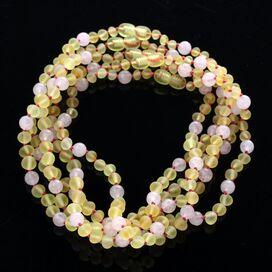 5 Raw Lemon Gems Baltic Amber teething necklaces 33cm