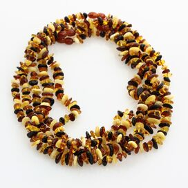 5 Multi CHIPS Baltic amber necklaces 45cm