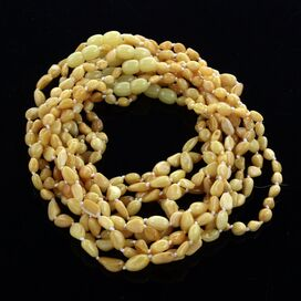 10 Milk BEANS Baby teething Baltic amber necklaces 33cm