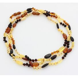 3 BEANS n NUGGETS Baltic amber necklaces 48cm