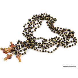Lot of 5 Christian ROSARIES made of natural Baltic amber