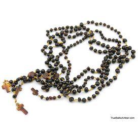 4 Christian ROSARIES made of natural Baltic amber