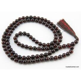 Tibetan Buddhist Mala Prayer 108 PRESSED Baltic amber beads