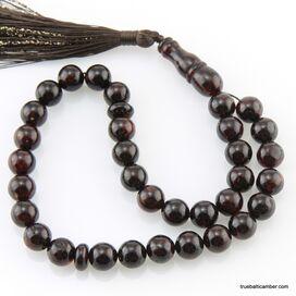 Islamic 33 ROUND beads prayer PRESSED Baltic amber rosary