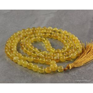 Tibetan Buddhist Mala Prayer 108 Baltic amber butter beads