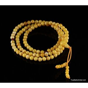 Tibetan Buddhist Japa Mala Prayer 108 Baltic amber beads rosary
