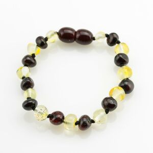 Multi BAROQUE Baby teething Baltic amber bracelet