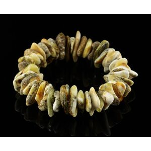Freeform Nuggets Handmade Baltic Amber Beaded Stretchy Bracelet