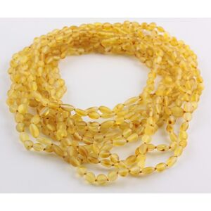 10 Raw Honey BEANS Baltic amber adult necklaces 45cm