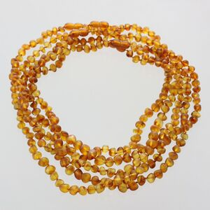 5 Raw Honey BAROQUE beads Baltic amber adult necklaces 45cm