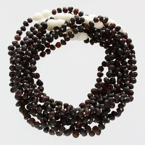 10 Raw Cherry BAROQUE Baltic amber teething necklaces 32cm