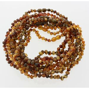 10 Raw BAROQUE Baltic amber teething necklaces 33cm
