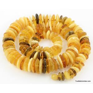 Butter buttons Baltic amber necklace 24in