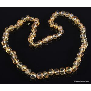 Honey BAROQUE beads Baltic amber mommy necklace 19in