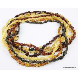 7 BUTTON beads Baltic amber necklace