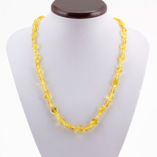Composition Button beads Baltic amber necklace 21in