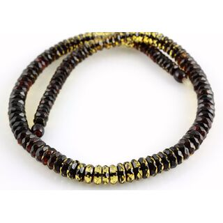 Faceted BUTTONS Baltic amber necklace 19in