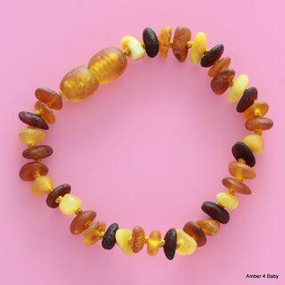 Raw Baltic Amber Teething Bracelet for Babies