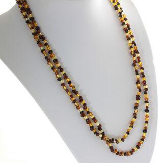Multi-Strand Baltic Amber Bead Necklace 120cm