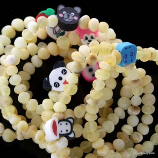 Toons Raw Baltic Amber Teething Bracelet for Babies
