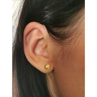 Shiny Studs Baltic amber Silver Earrings