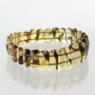 Sparkling pieces Baltic amber stretchy bracelet 18cm