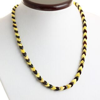 Overlapping Multi pieces Baltic amber necklace 46cm