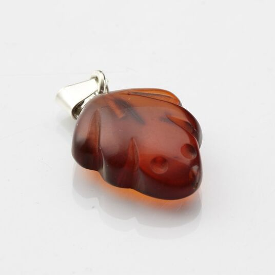 Small Baltic amber CARVED pendant