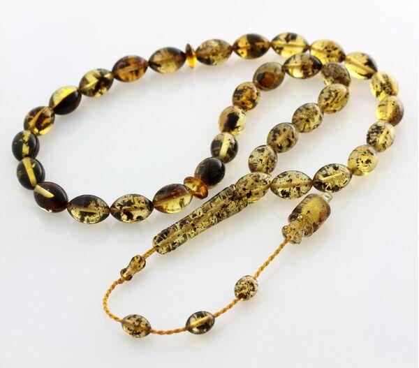 Islamic 33 Prayer OLIVE Baltic amber beads