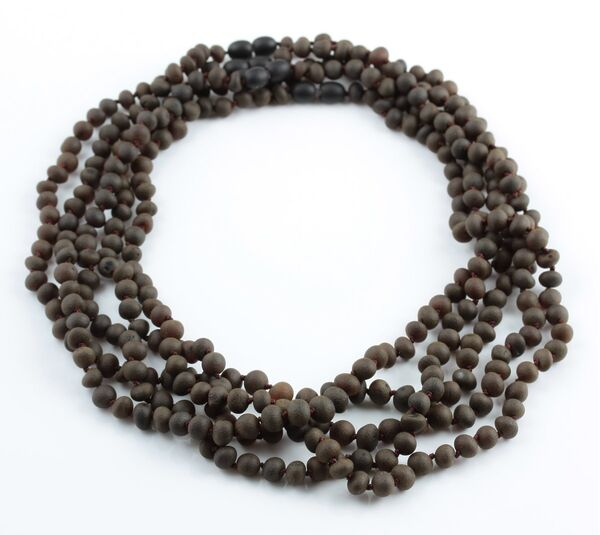 5 Raw Cherry BAROQUE beads Baltic amber adult necklaces 50cm