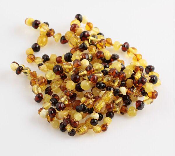 10 Multi BAROQUE Baltic amber teething bracelets 16cm