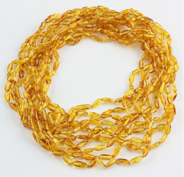 10 Honey BEANS Baltic amber adult wholesale necklaces 51cm