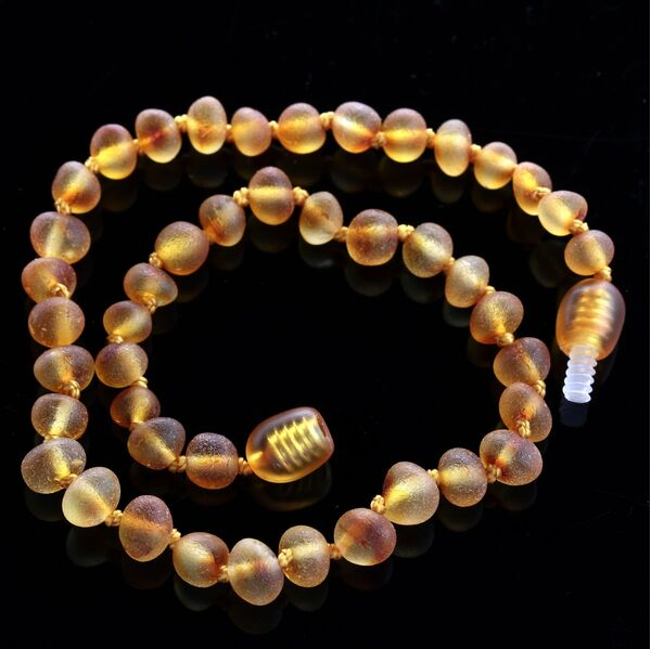 Raw Honey Baroque Teething Baltic amber Necklace 28cm