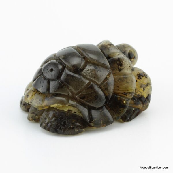 Carved Genuine BALTIC AMBER - Turtle