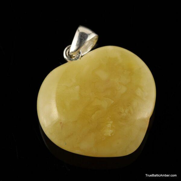 Butter HEART Baltic amber pendants