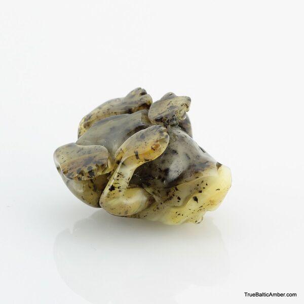 Carved Genuine BALTIC AMBER - Frog