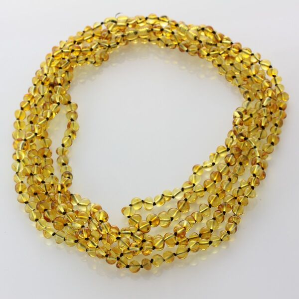 5 Honey BAROQUE Baltic amber adult necklaces 53cm