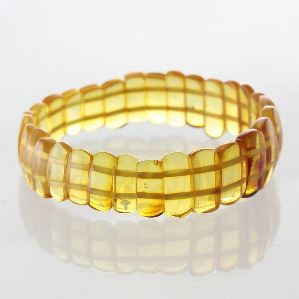 Sparkling pieces Baltic amber stretchy bracelet 18cm