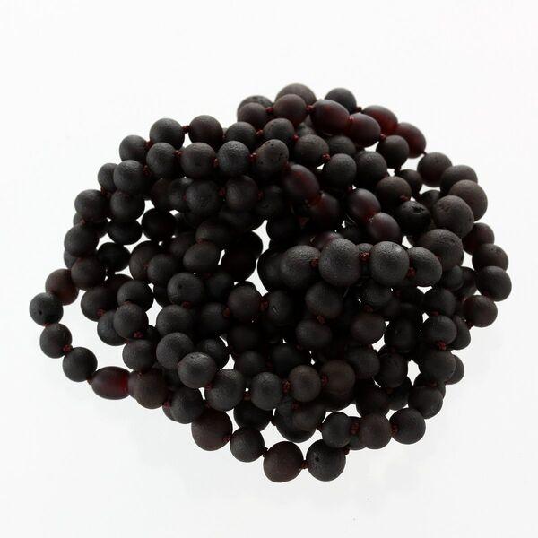 10 Raw Cherry BAROQUE Baltic Amber Bracelet 19cm