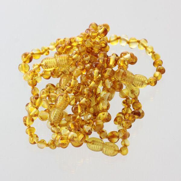 10 Honey BAROQUE Baltic amber teething bracelets 12cm