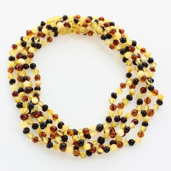 5 Multi BAROQUE Baltic amber adult necklaces 45cm