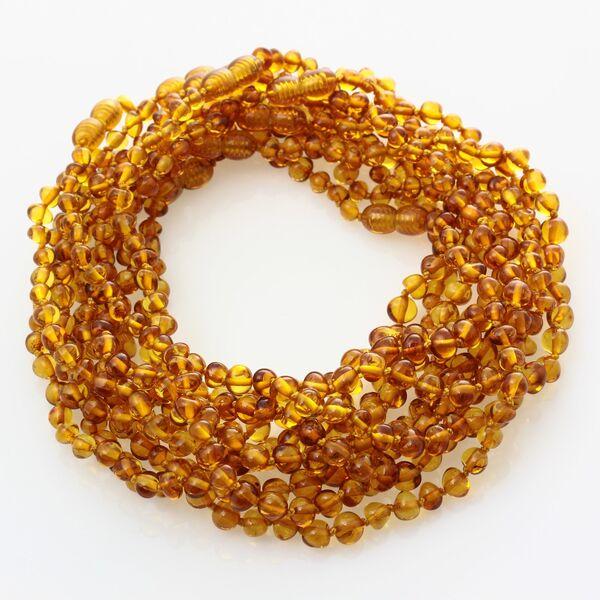 10 Honey BAROQUE teething Baltic amber necklaces 32cm