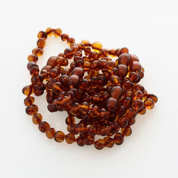 10 Cognac BAROQUE Baltic amber teething bracelets 13cm
