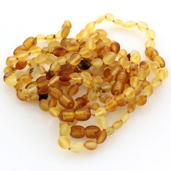 10 Raw Mix BEANS Baltic amber teething bracelets 16cm