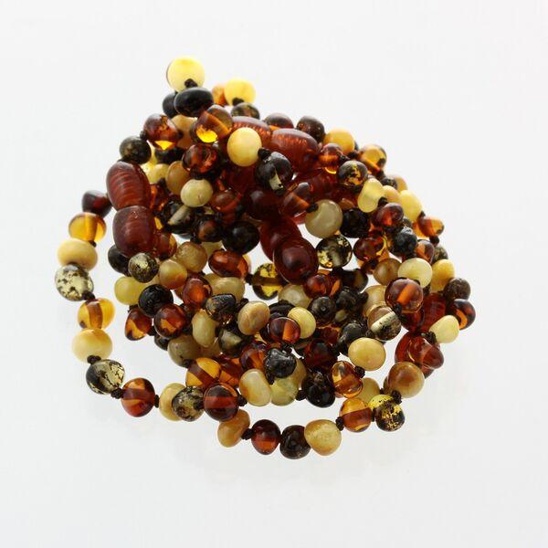 10 Multi BAROQUE Baltic amber teething bracelets 14cm