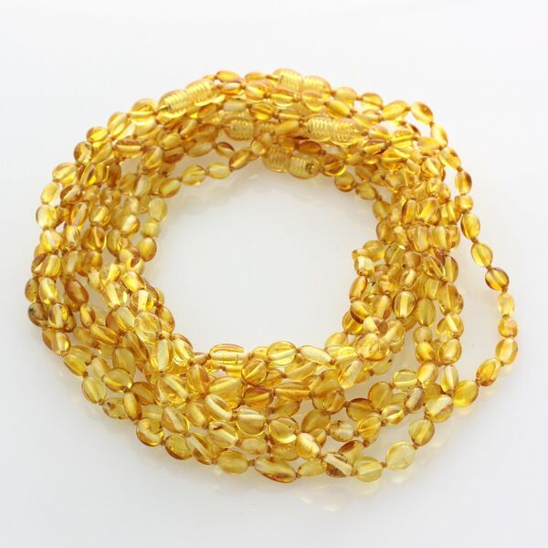 10 Honey BEANS Baby teething Baltic amber necklaces 33cm