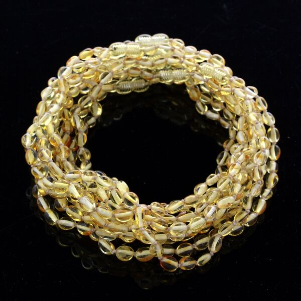 10 Lemon BEANS Baby teething Baltic amber necklaces 33cm