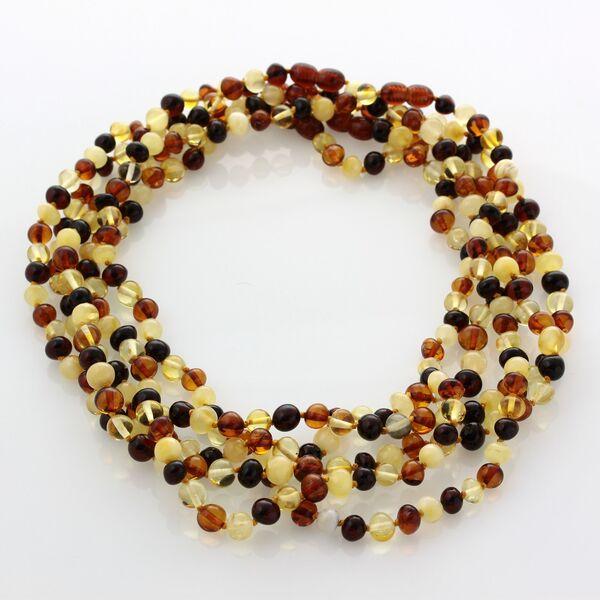 5 Multi BAROQUE Baltic amber adult necklaces 46cm